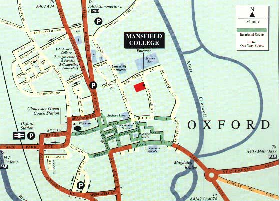 mansfield college map
